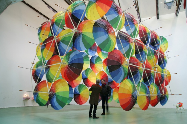 Eric Von Robertson - Cloudburst (Installation with umbrella's)